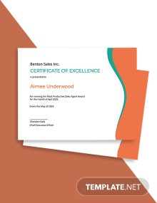 Winner Award Certificate Template