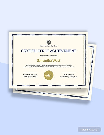 Sunday School Achievement Certificate Template