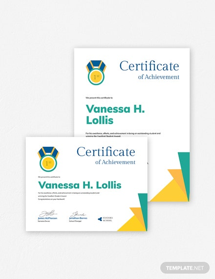 free certificate of achievement template  download 378  certificates in psd  illustrator