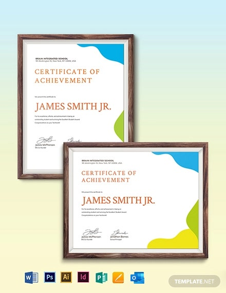 Sunday School Award Certificate Template