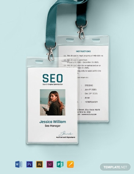 SEO Identity Card Template