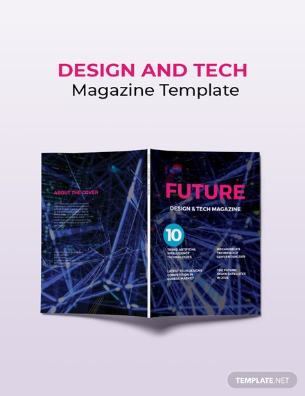 Free Design and Tech Magazine Template