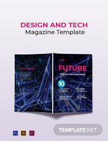 Design and Tech Magazine Template
