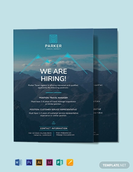 Travel Agency Announcement Template