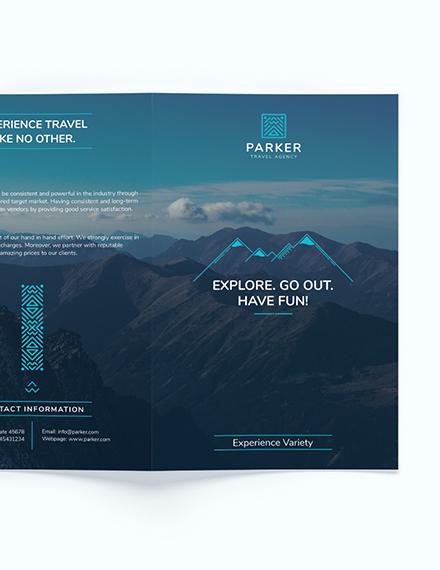 Simple Travel Agency Bi Fold Brochure