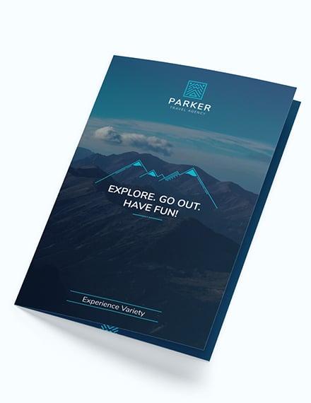 Travel Agency Bi Fold Brochure Download