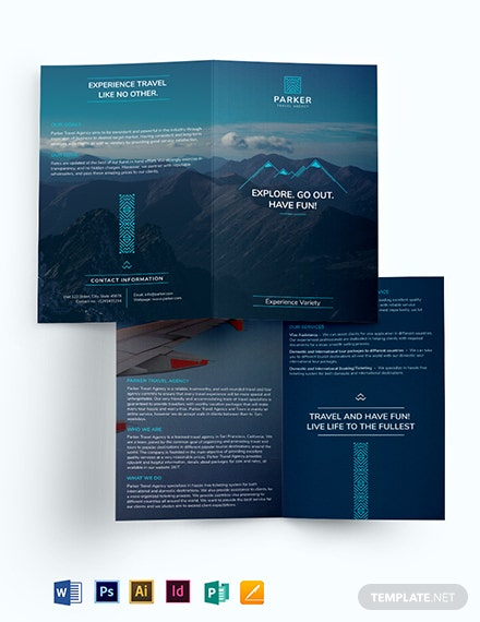 Travel Agency Bi-Fold Brochure Template