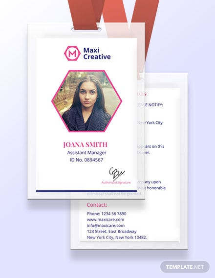 34 Free Id Card Templates Download Ready Made Template Net