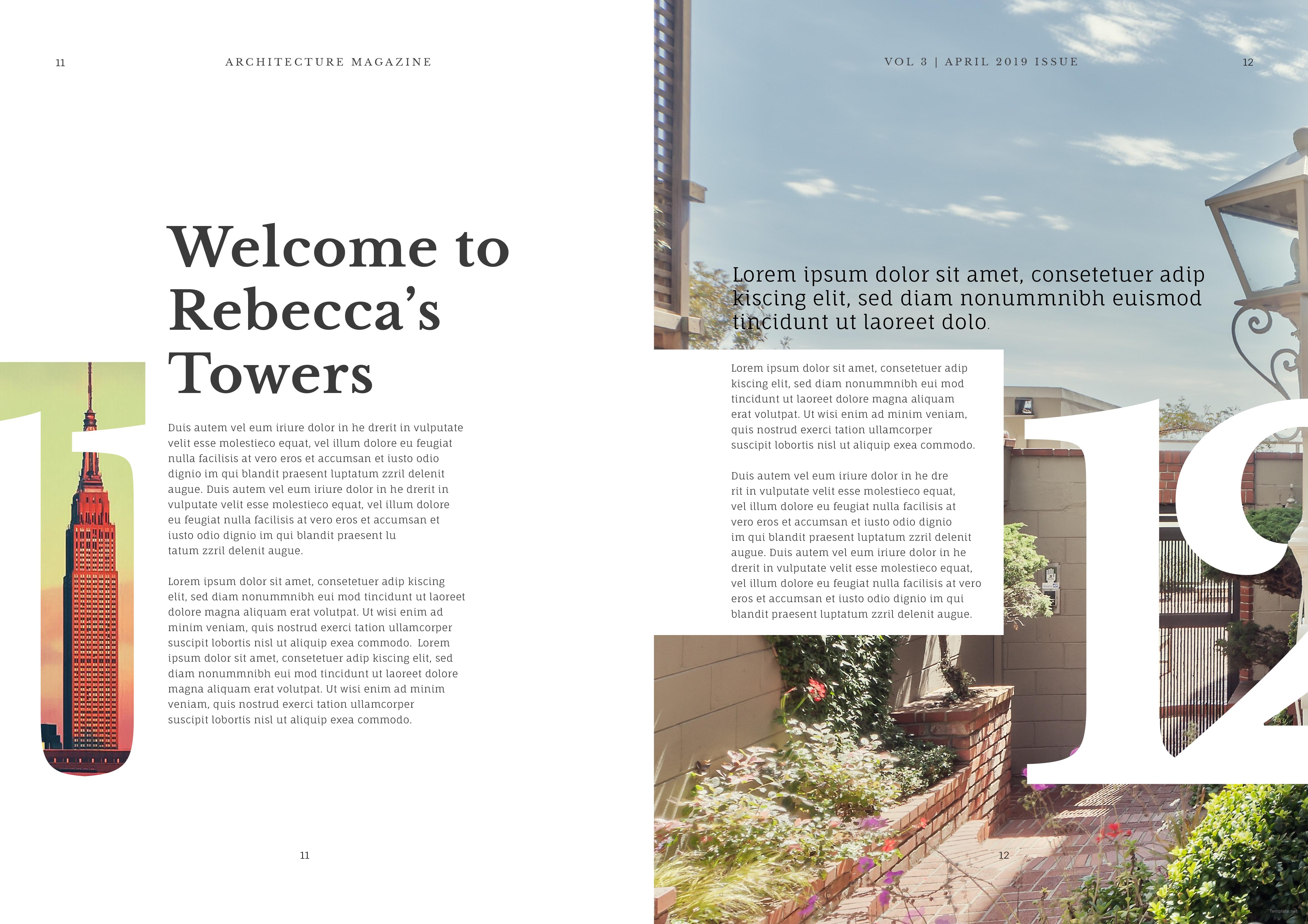 architecture magazine template - Free Architecture Magazines