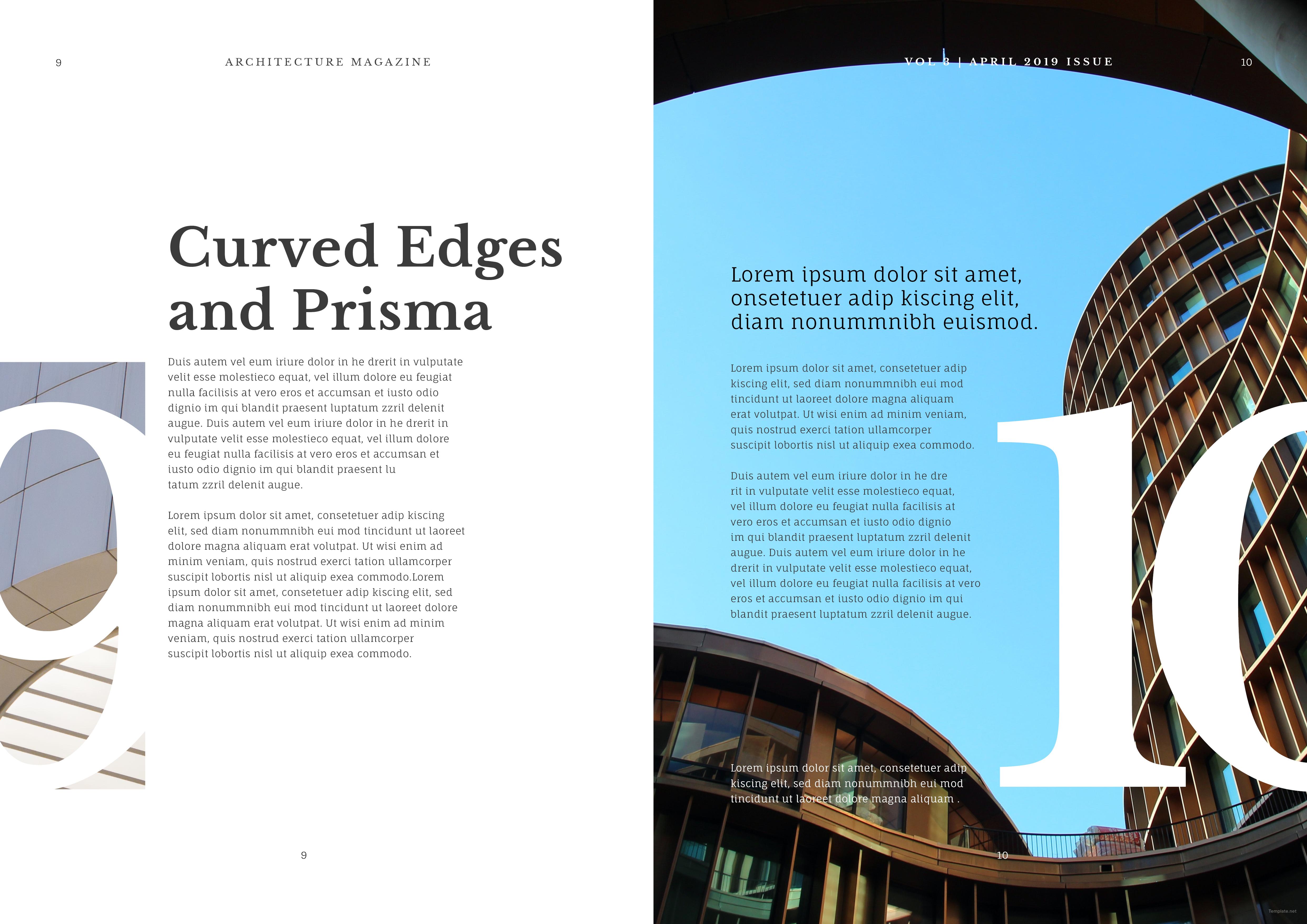 Creative Architecture Magazine Template