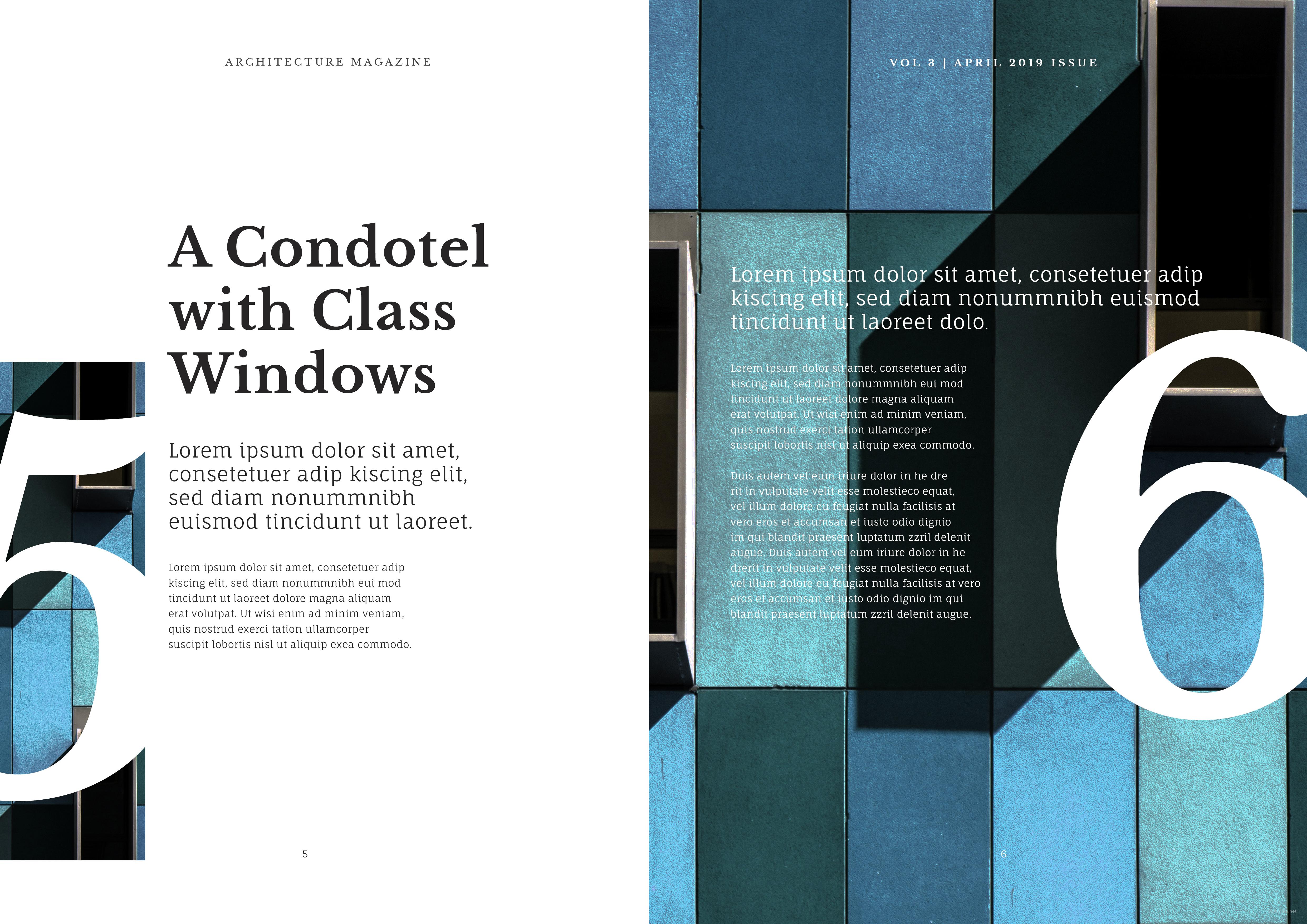 Customize Architecture Magazine Template