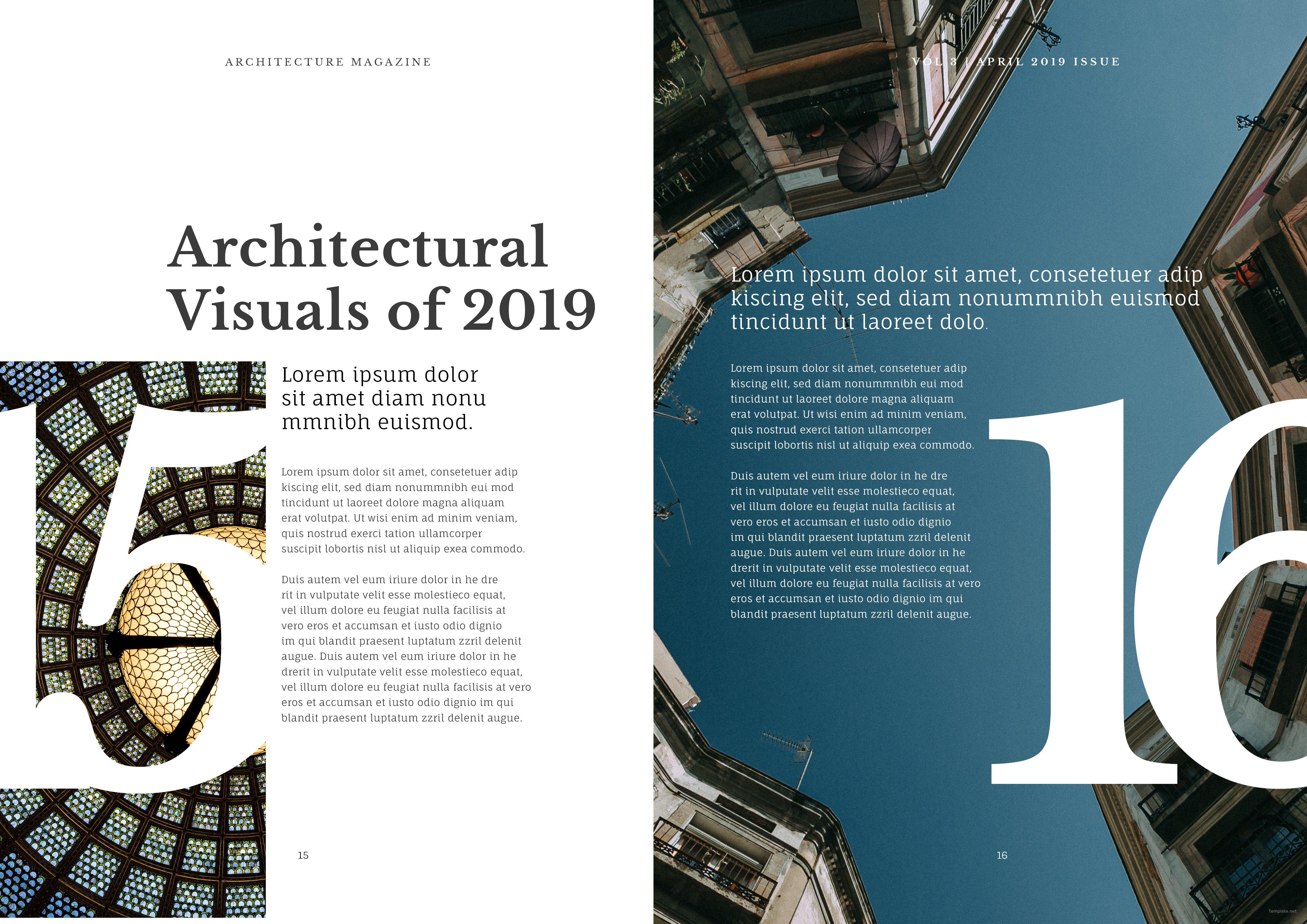 Download Architecture Magazine Template