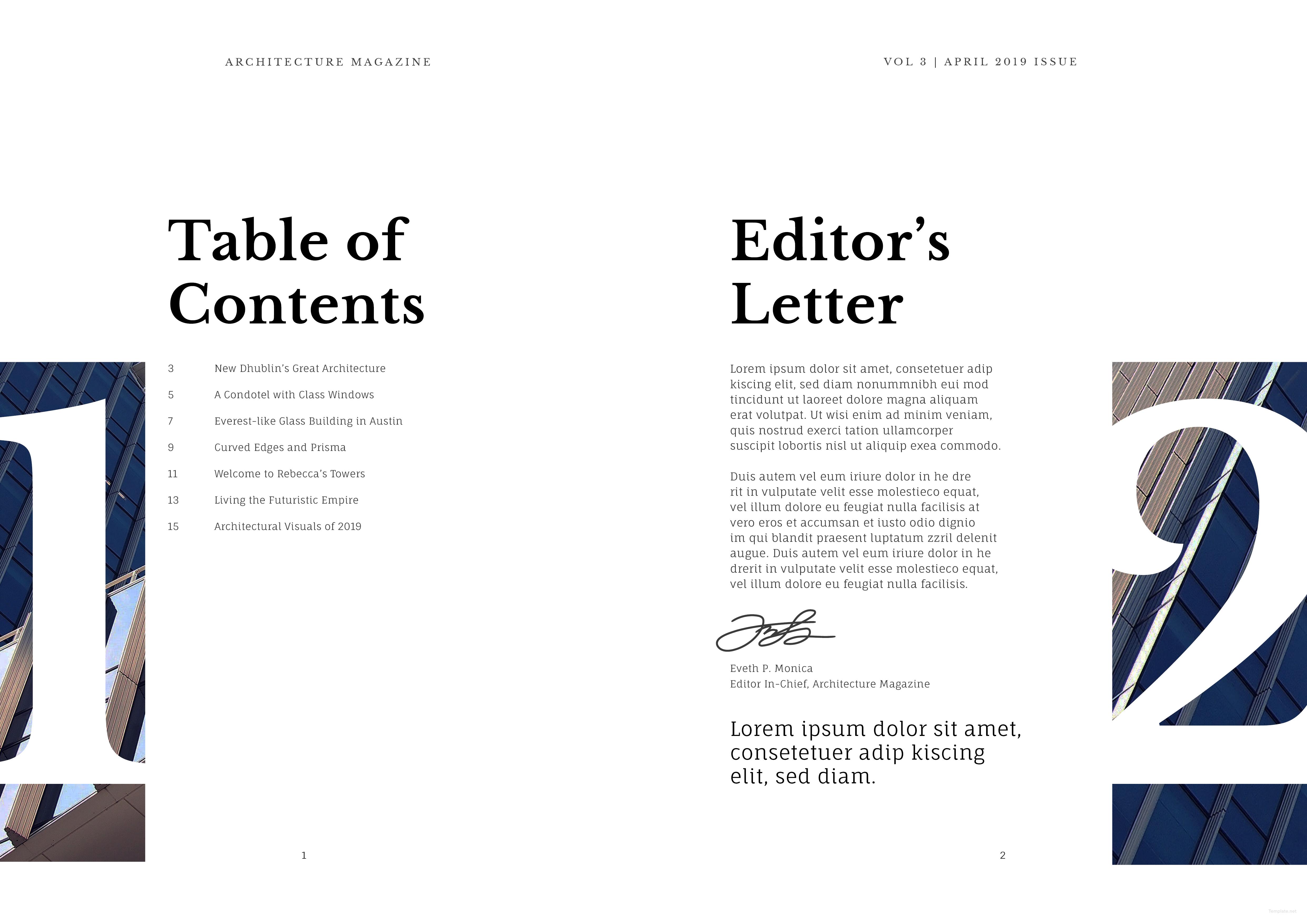 Editable Architecture Magazine Template
