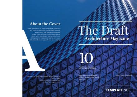 Free Architecture Magazine Template