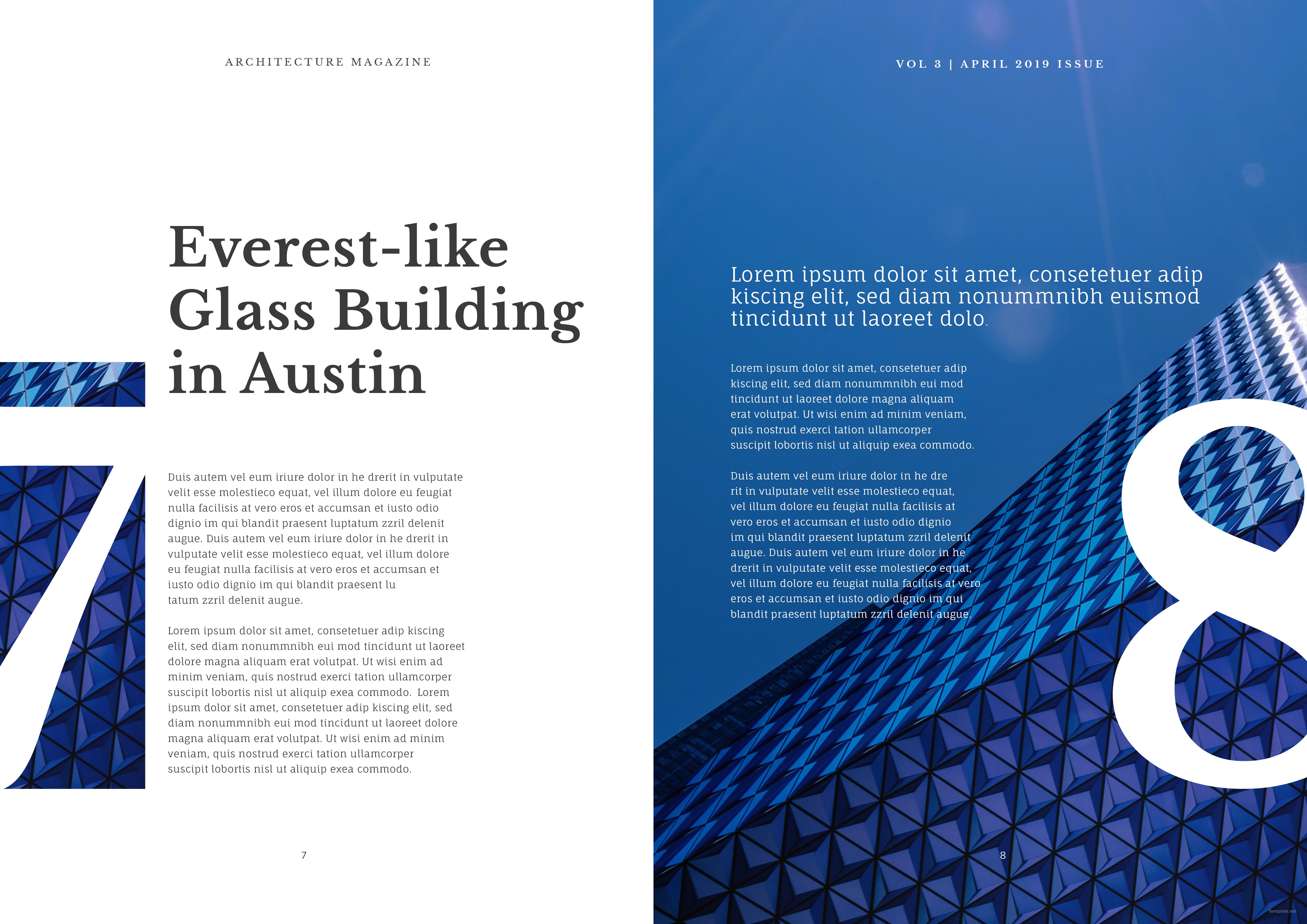 free architecture magazine template - Free Architecture Magazines