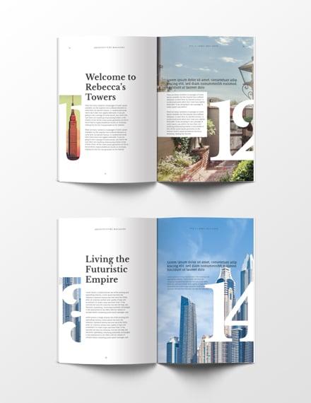 Free Architecture Magazine Template. 1 ...