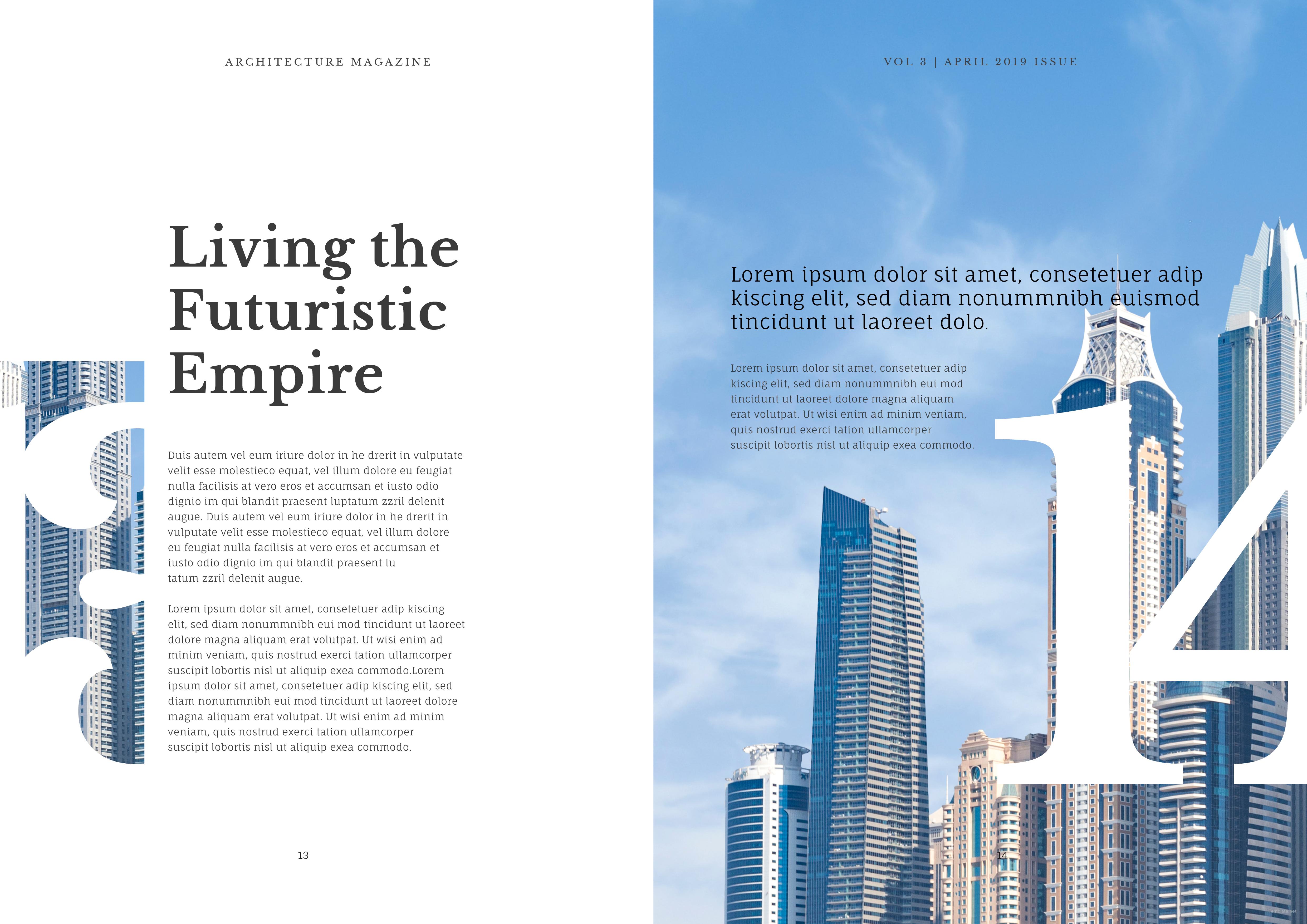 Indesign Architecture Magazine Template