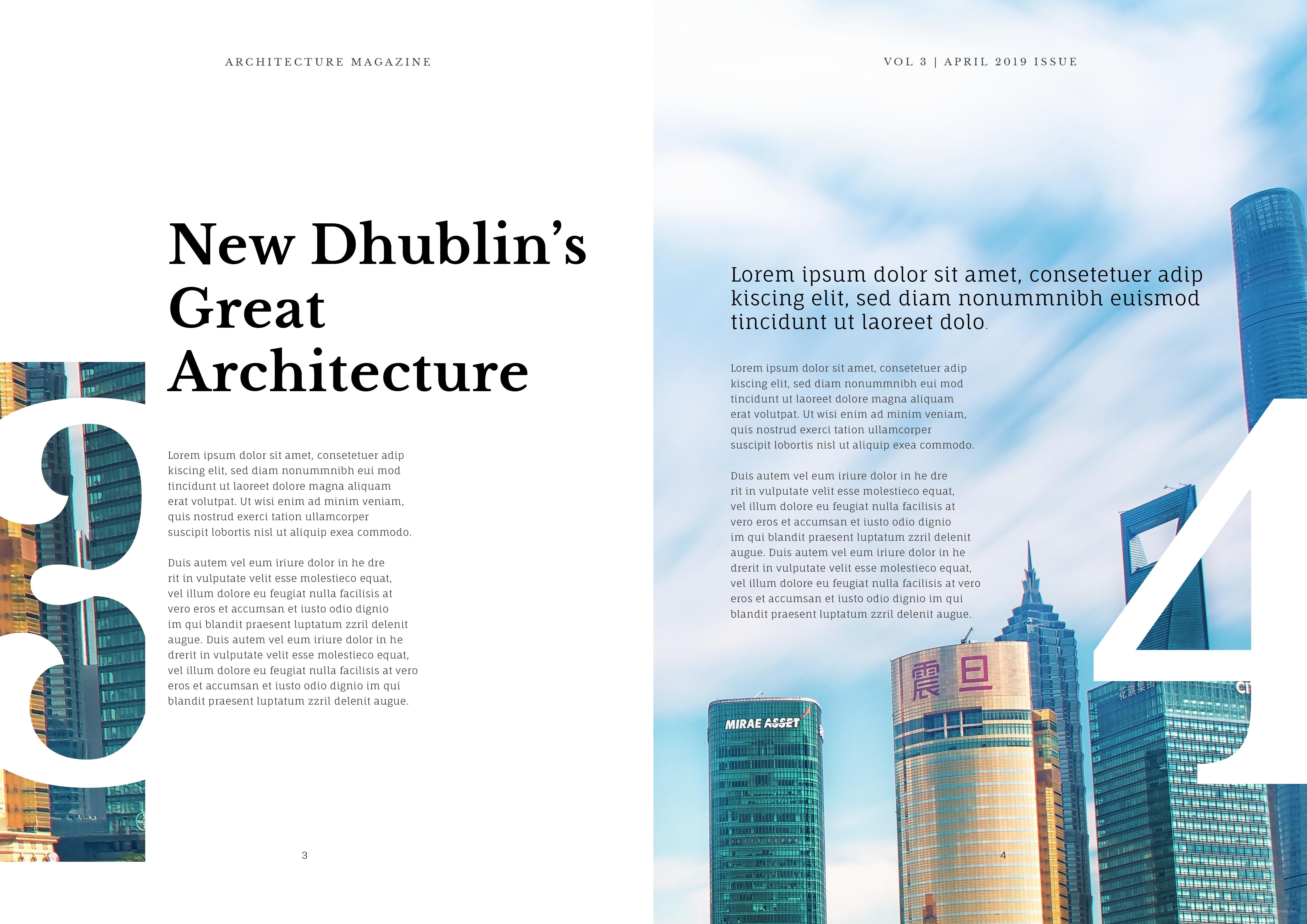 Printable Architecture Magazine Template