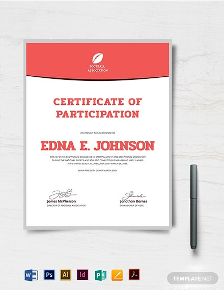 Modern Soccer Certificate Template