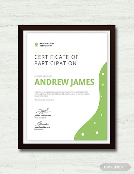 Sports Certificate Download