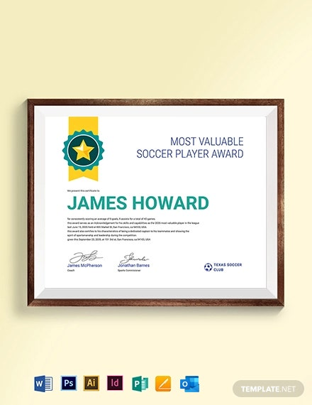 Sports Award Certificate Template