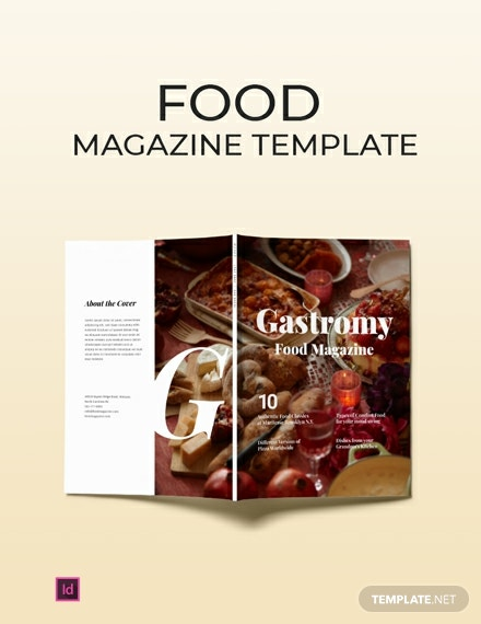Free Food Magazine Template