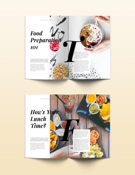 Free Food Magazine Template