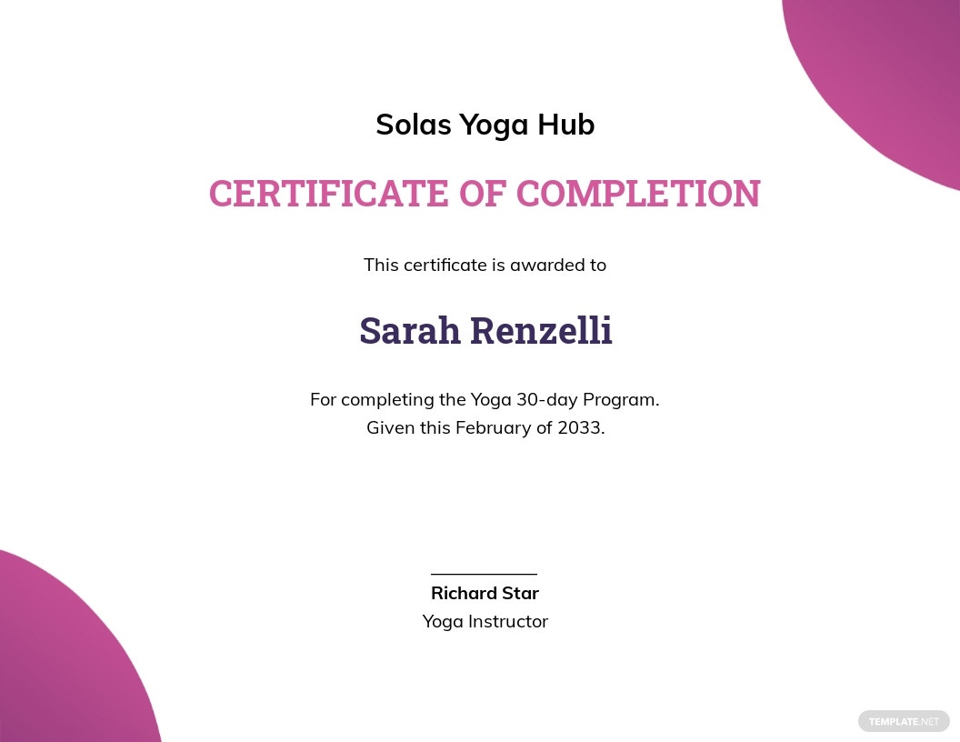 Creative Yoga Certificate Template.jpe