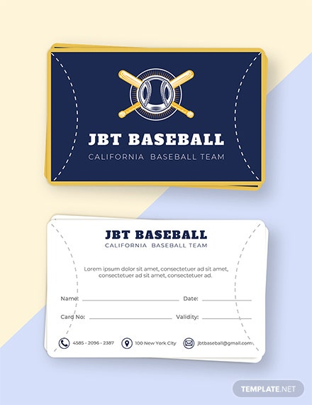 Free Baseball Card Template