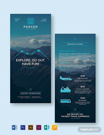 Travel Agency DL Card Template