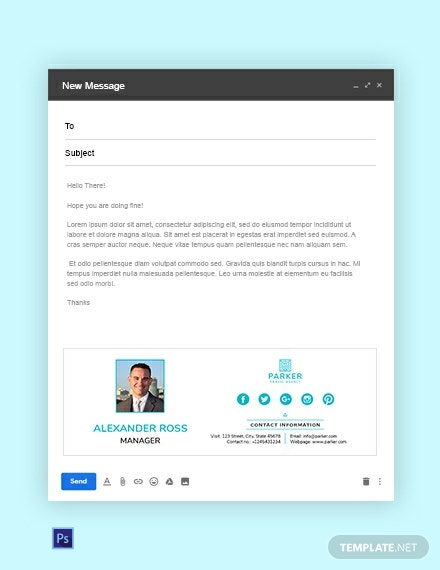 Travel Agency Email Signature Template