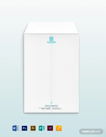 Travel Agency Envelope Template