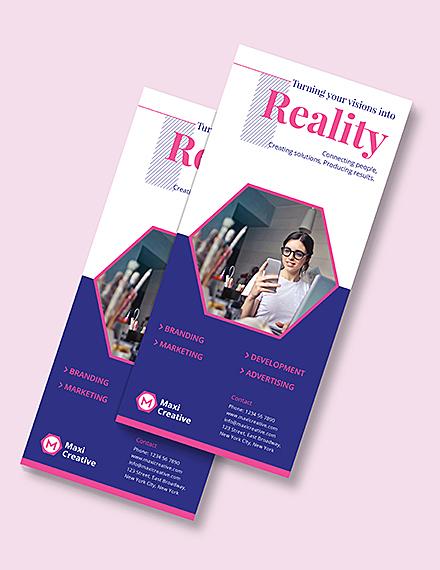 Creative Agency Rackcard Download