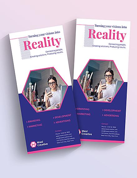 Sample Creative Agency Rackcard