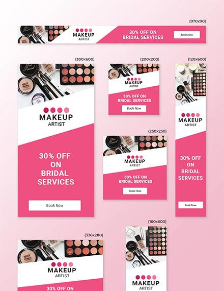 Makeup Artist Web Ads Template