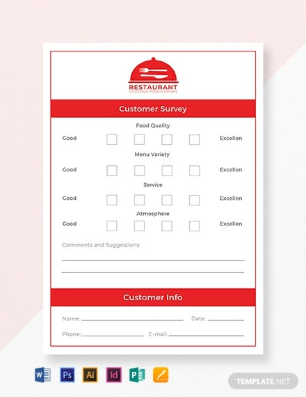 Free Comment Card Template