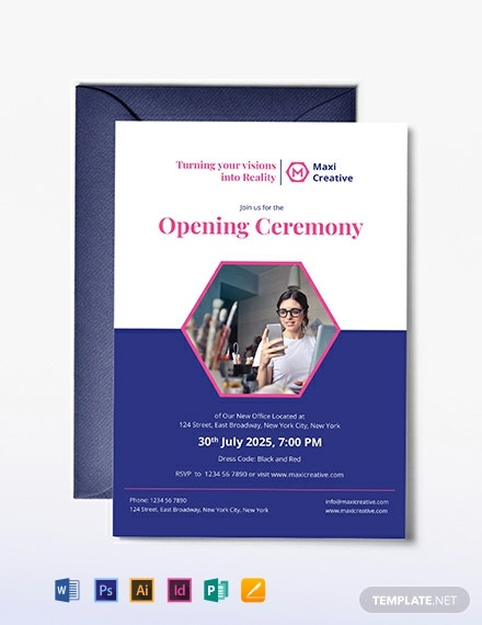 Creative Agency Invitation Template