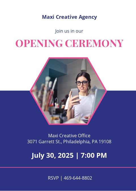 Creative Agency Invitation Template