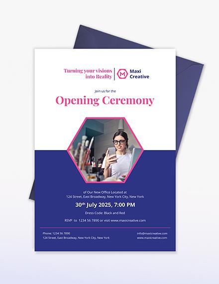 Sample Creative Agency Invitation