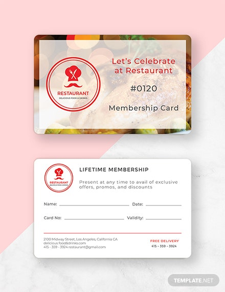 Free Membership Card Template