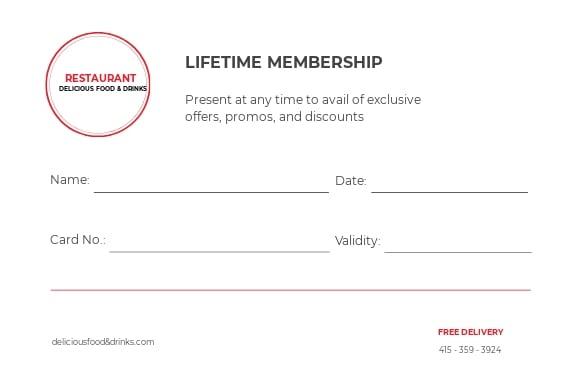 Free Simple Membership Card Template 1.jpe