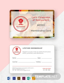 Free Simple Membership Card Template