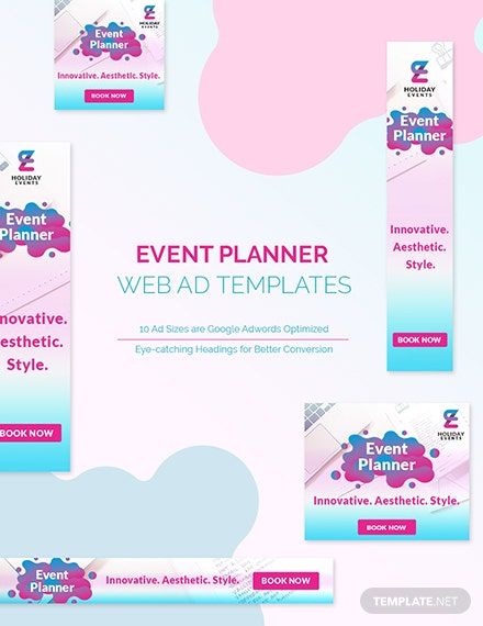 Event Planner Web Ad Template