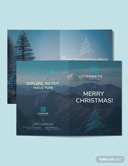 Travel Agency Greeting Card Template