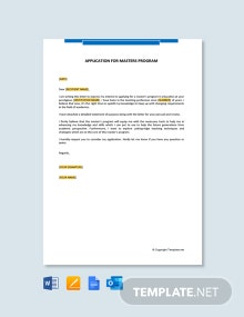 Free Letter of Intent For University