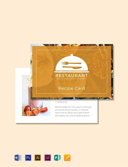 Free Recipe Card Template