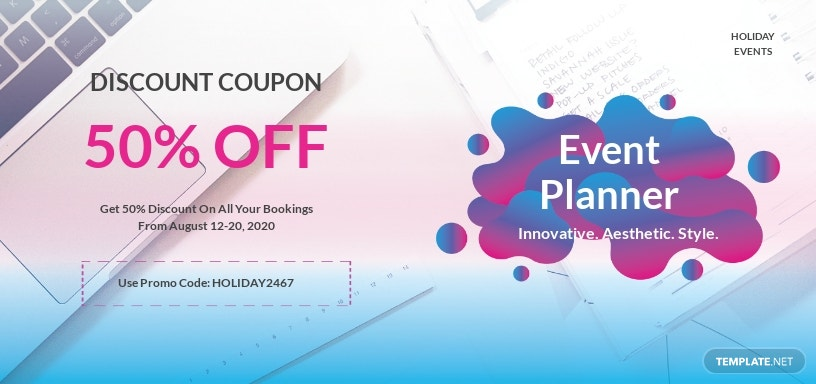 Event Planner Coupon Template