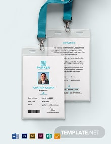 Travel Agency ID Card Template