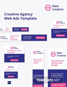 Creative Agency Web Ads Template