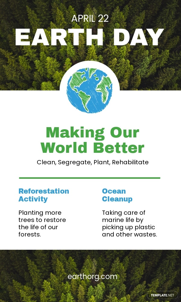 Earth Day Email Newsletter Template.jpe